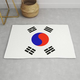 South Korean Flag Logo Rug