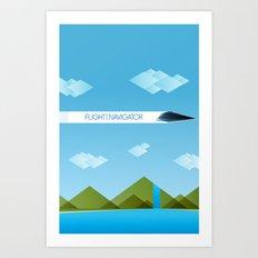The Flight of the Navigator Minimal Film Poster Art Print