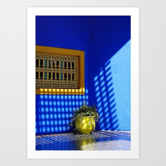 Shadows and reflections Art Print