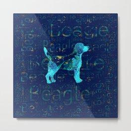 Decorative Beagle  dog Metal Print