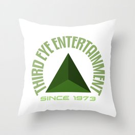 Third eye entertainment green Throw Pillow