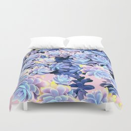 Cactus Fall - Blue and Pink Duvet Cover