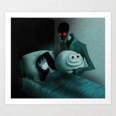Creepy Cat 26 - Killing Wife Art Print