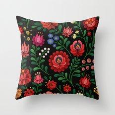 Hungarian flowers Throw Pillow