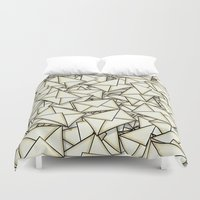 geek Duvet Covers featuring Email by 10813 Apparel