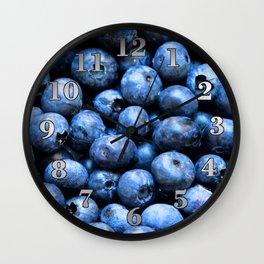 Blueberries Wall Clock