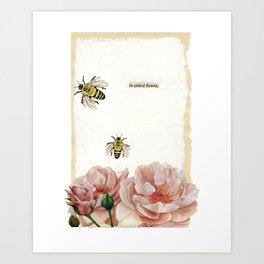 He Picked Flowers Art Print