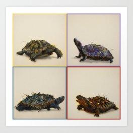 The four Turtles. Art Print