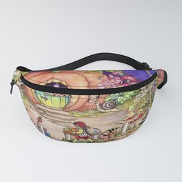 """""""Pumpkin Cottage"""" by Peg Maltby (1923) Fanny Pack"""