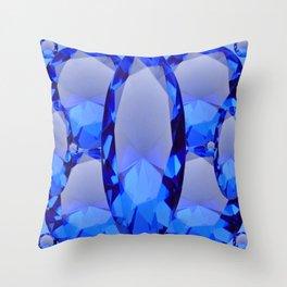 SEPTEMBER BLUE SAPPHIRE GEMS BIRTHSTONES Throw Pillow