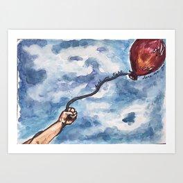 LA flight Art Print
