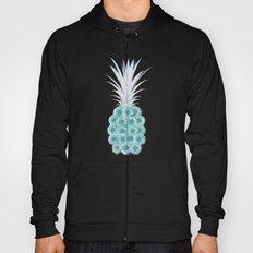 Floral Pineapple Plaid Teal Hoody