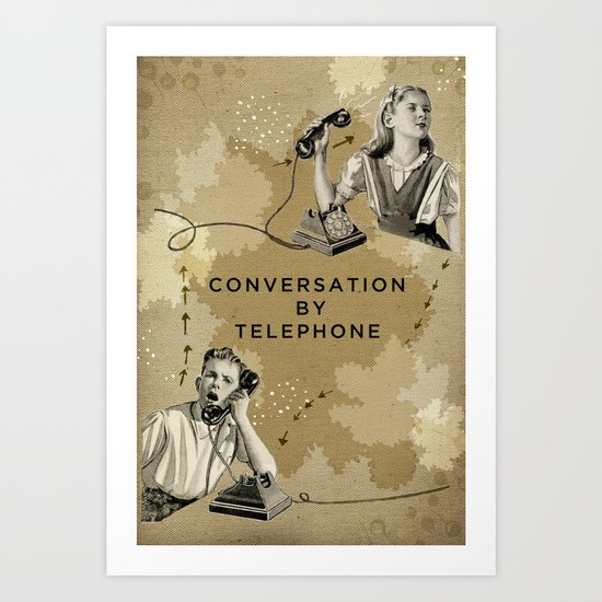 Conversation by Telephone Art Print