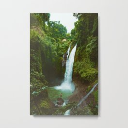 The Valley's Waterfall (Color) Metal Print