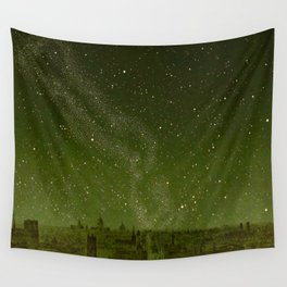 The sky and horizon above Paris Illustration from Le ciel; notions élémentaires d'astronomie physi Wall Tapestry