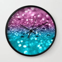Tropical Beach Lady Glitter #7 #shiny #decor #art #society6 Wall Clock
