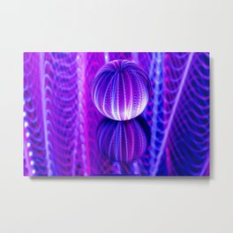 crystal ball reflect in red and blue. Metal Print