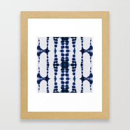 Boho Tie-Dye Knit Vertical Framed Art Print