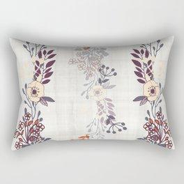 Trailing Line Art Flowers Rectangular Pillow