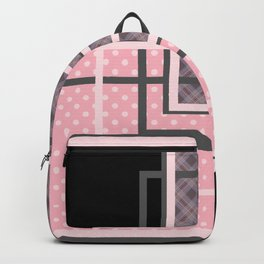 Geometric patchwork 7 Backpack