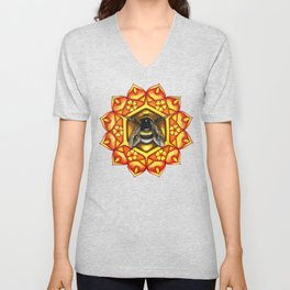 Bee Mandala Unisex V-Neck