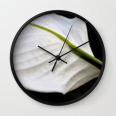 delicate white. Wall Clock