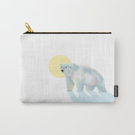 Ice bear in sunrise Carry-All Pouch