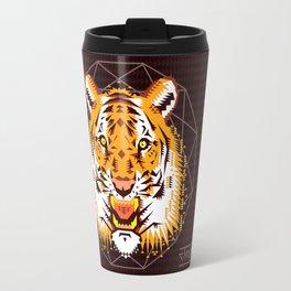 Geometric Tiger Travel Mug