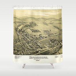 Aerial View of Birdsboro, Pennsylvania (1890) Shower Curtain