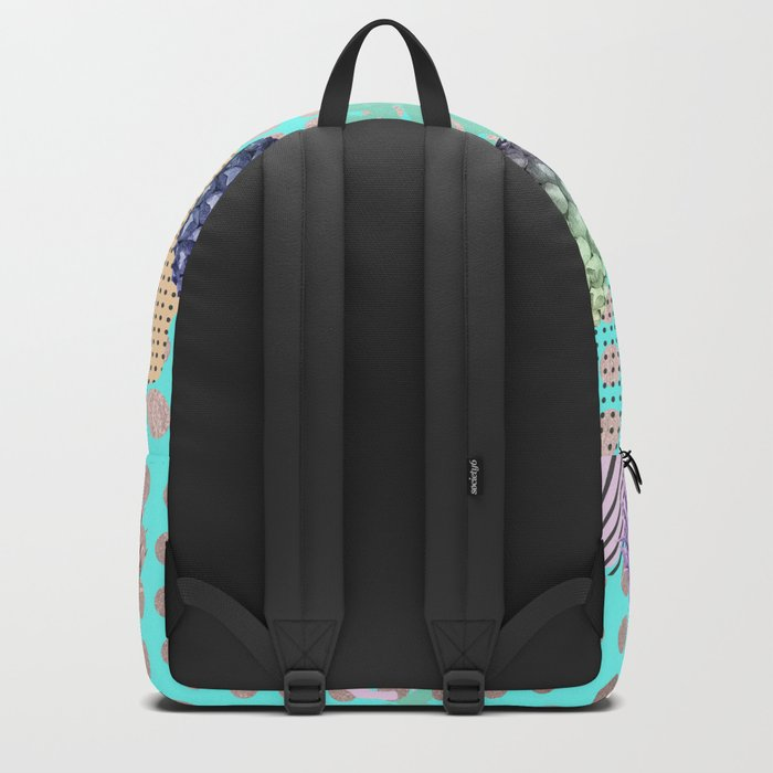 Pineapple Summer Rainbow Rose Gold Backpack