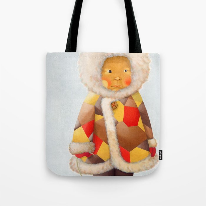 a child being lost in thought Tote Bag