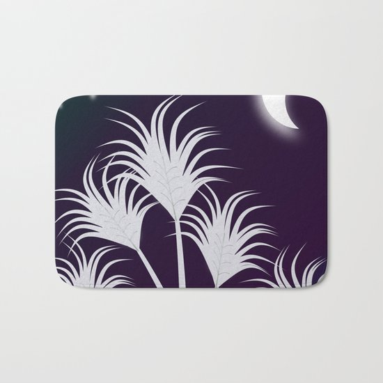 Palms at Night Bath Mat