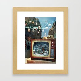 Prague in vitrine Framed Art Print