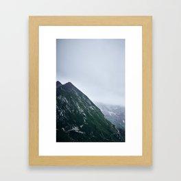Green Alps Framed Art Print