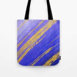 Colored Brush with Gold Foil 10 Tote Bag