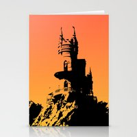 castle Stationery Cards featuring Castle by Julia Badeeva