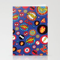 super hero Stationery Cards featuring Movie Super Hero logos by Nick's Emporium Gallery