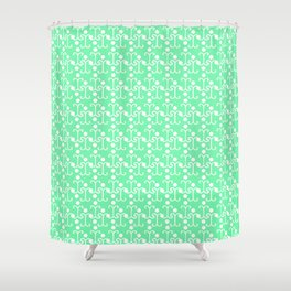 Lattice Pattern (Mint) Shower Curtain
