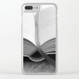 Bible Black and White Clear iPhone Case
