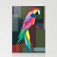 parrot Stationery Cards featuring parrot by mark ashkenazi