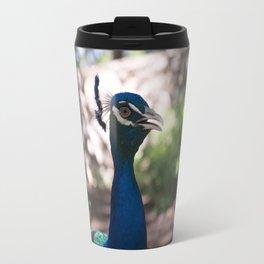 Peacock in the Garden Travel Mug