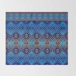 The Lodge (Blue) Throw Blanket