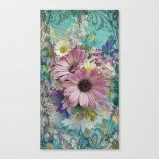 Happy Colors Daisies Canvas Print