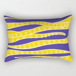 Yellow Tentacles Rectangular Pillow