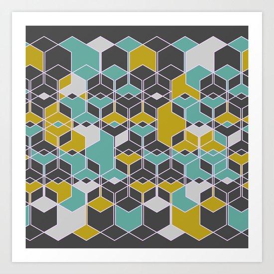 Hexagon Pattern 2 Art Print