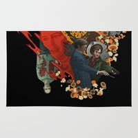 will graham Area & Throw Rugs featuring The story of Will Graham  by Indigo Perez