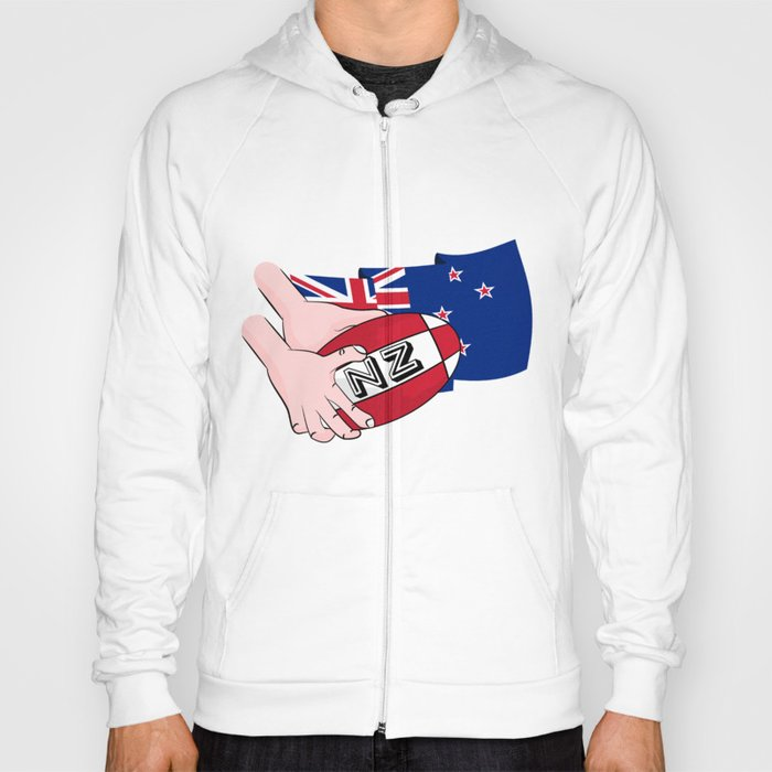Rugby Ball New Zealand Hoody