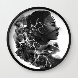 Volcanic Lightning Wall Clock