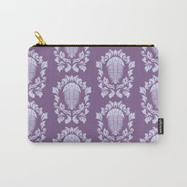 Trilobite's Damask -- Purple Carry-All Pouch
