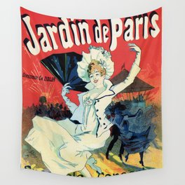 1890 Jardin De Paris Night Party Wall Tapestry